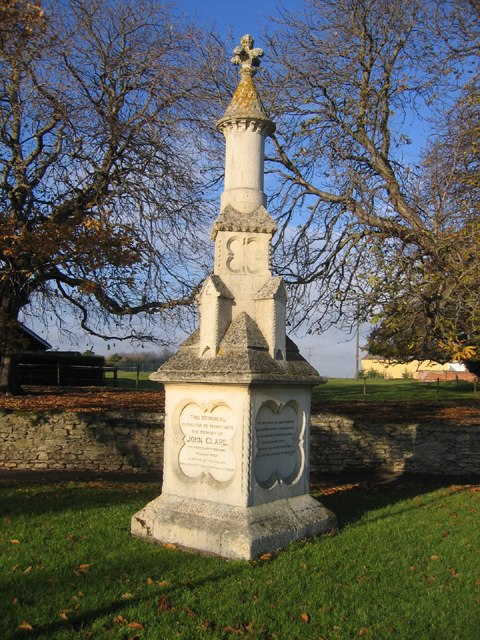 John Clare Memorial, Helpston, Peterborough - geograph.org.uk - 87487
