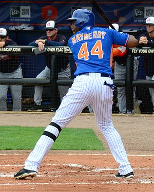 John Mayberry Jr. - Mayberry in 2015 with the Mets