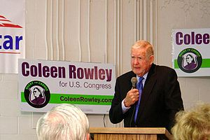 Coleen Rowley - US Rep. John Murtha (D-PA) endorsing Rowley at a rally in Rosemount, Minnesota on September 17, 2006