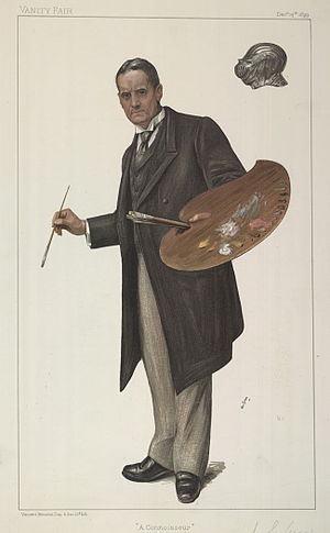 "John Seymour Lucas - Lucas caricatured by ""N"" for Vanity Fair, 1899"