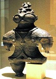 Statuette with Snow Glasses, Jōmon Era