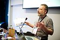 Jonathan Cardy, Wikimedia UK, at Wikimania 2014.jpg