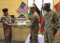 Jordanian armed forces transfer authority of FOB Sharana security 130815-A-XX999-001.jpg