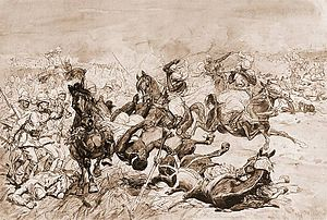 First and Second Battles of El Teb - Second battle of El Teb by Józef Chełmoński