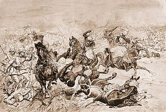 First and Second Battles of El Teb - Second battle of El Teb by Józef Chełmoński