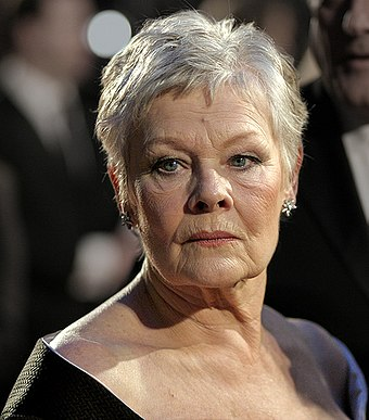 Judi Dench (pictured) and Winslet played the novelist Iris Murdoch at different ages in Iris (2001). Judi Dench at the BAFTAs 2007.jpg