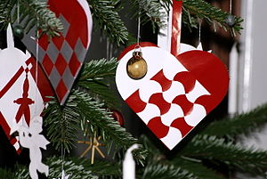 Jul (Denmark) - Julehjerter or Yule hearts