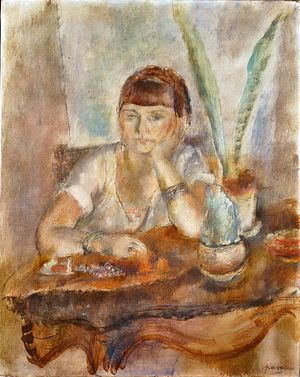Jules Pascin - Portrait of Mimi Laurent, c. 1927–28, oil on canvas, Hirshhorn Museum and Sculpture Garden, Washington, DC.