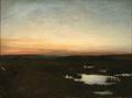 Julius Paulsen, Landskab ved solnedgang, 1888.png