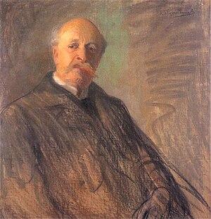 Juliusz Kossak - Juliusz Kossak, by Wyczółkowski