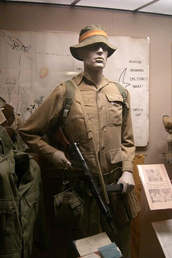 Jungle service dress of the 1st Battalion Somerset Light Infantry used in the emergency. Jungle service dress.JPG