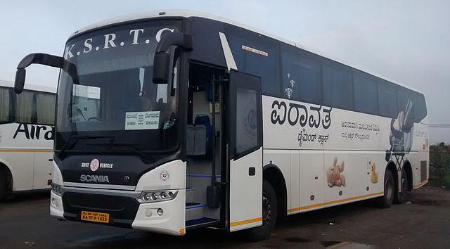 KSRTC's Airavat Diamond Class Scania.
