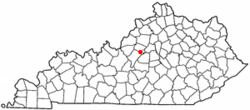 Location of Bloomfield, Kentucky