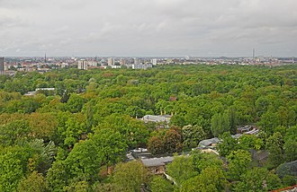 Berlin Zoological Garden - View of Berlin Zoo from Kaiser Wilhelm Memorial Church