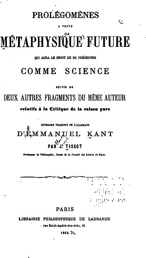Prolegomena to Any Future Metaphysics cover