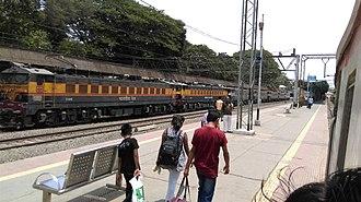 Karjat Junction railway station - Image: Karjat railway station WCAM 3 bankers at Karjat