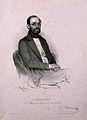 Karl, Freiherr von Rokitansky. Lithograph by E. Kaiser, 1850 Wellcome V0005068.jpg