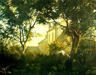 Karl Madsen - La ville hue ved Saint Briac i Bretagne  (1878)