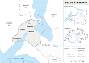 Map of the district of Küssnacht