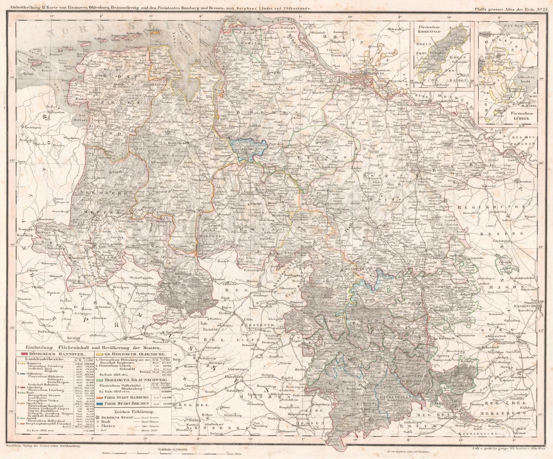 File Karte Von Hannover Oldenburg Braunschweig Und Den Freistaaten