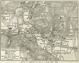 Battle of Sedan - Situation at 12:00 on 1 September
