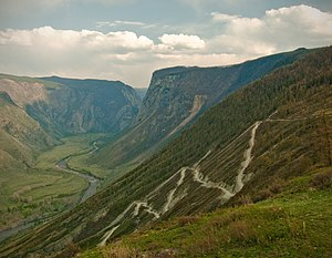 Chulyshman River - View from Katu-Yaryk pass