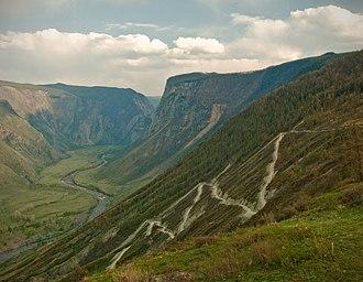 Chulyshman River - View from Katu-Yaryk pass