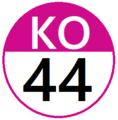 Keio KO44 station number.png
