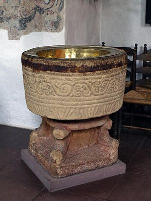 St. Severin, Keitum - Image: Keitum Kirche Taufe