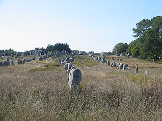 Carnac - Standing stones in the Kermario alignment