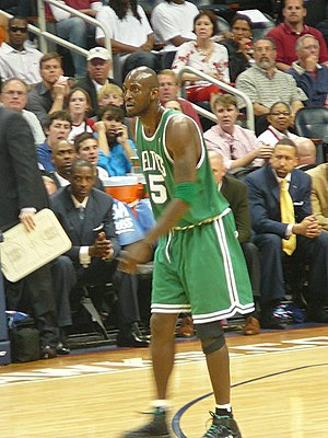 Kevin Garnett - Garnett in Game 4 of the 2008 NBA Playoffs against the Atlanta Hawks.