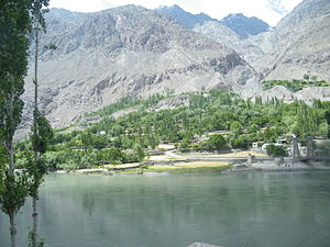 Ghizer District - Khalti Lake in the Ghizer District, Gilgit.