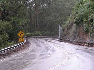 Clyde Mountain - Kings Highway, ascending Clyde Mountain, heading west towards Braidwood.