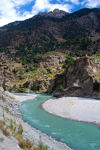 Kinnaur district - Sutlej River in Kinnaur Valley, Himachal Pradesh