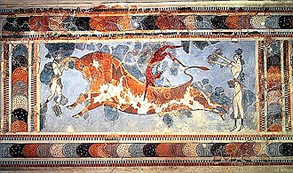 Sacred bull - The Bull-Leaping Fresco: Knossos