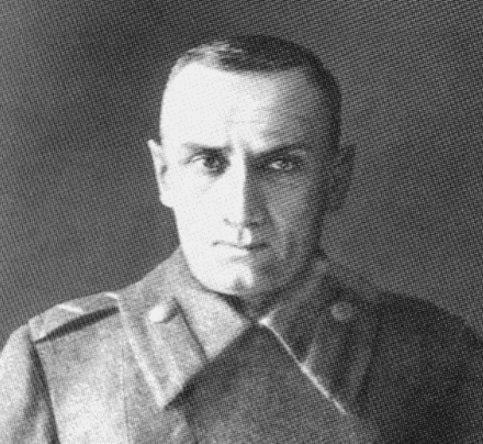 The last photo of Admiral Kolchak taken before his execution in 1920 Kolchak last photo.png