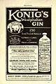 Konig's Westphalian Gin 1913 advertising.jpg
