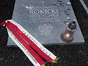 Konstanty Rokicki (1899–1958) Vizekonsul in Bern 1939– 1945, Holocaust-Retter. Grab auf dem Friedhof Friedental, Stadt Luzern