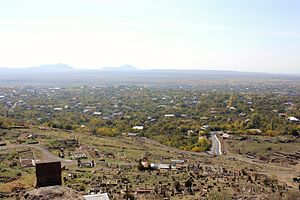Kosh, Armenia - The village of Kosh as viewed from Kosh Berd.