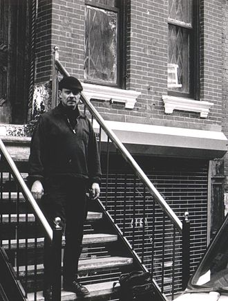 Peter Kowald - Peter Kowald in New York 1985, Photo: E. Dieter Fränzel