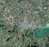 Krasnodar, Russia, city and vicinities, near natural colors, LandSat-5, 2010-07-28.jpg