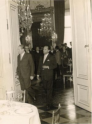 Bruno Kreisky - Kreisky (left) with Abul Fateh in Vienna, 1962.
