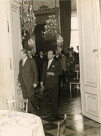 Abul Fateh - Abul Fateh (right) with Austrian Foreign Minister Bruno Kreisky, Vienna, 1962
