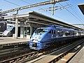 Kuroha 882-7 & 787 series at Ōita Station.jpg