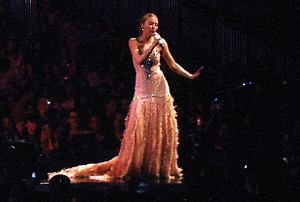 "Impossible Princess - Minogue performing ""Dreams"" during Showgirl: The Greatest Hits Tour (2005). Impossible Princess takes its title after a line in said song."