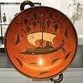 Kylix Dionysus on a ship between dolphins 530 BC, Staatliche Antikensammlungen Munich 120638x.jpg