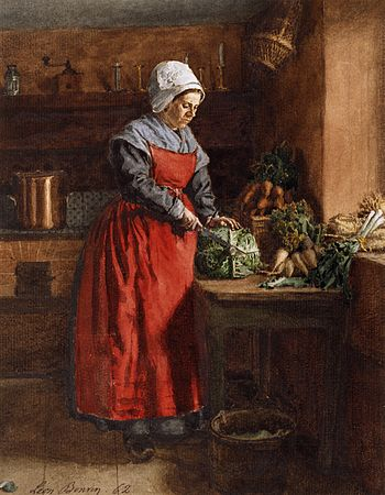 Léon Bonvin,  Cook with Red Apron (1862)