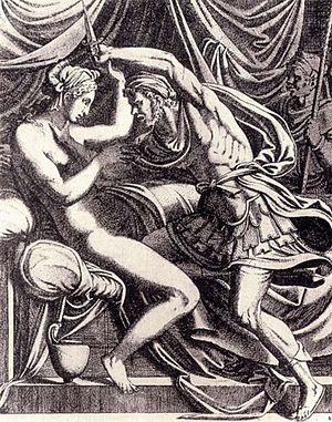 Tarquin and Lucretia (Titian) - Image: Léon Davent Tarquin and Lucretia WGA05968