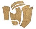 Lösa delar till en tröja i sämskskinn - Livrustkammaren - 102290.tif