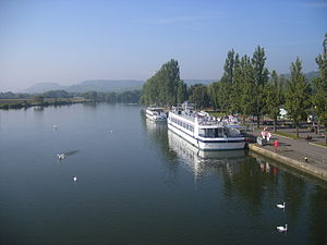 Transport in Luxembourg - Moselle tourist boats at Remich